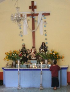 Altar, Cemetery Chapel - Day of the Dead - Oaxaca State, Mexico