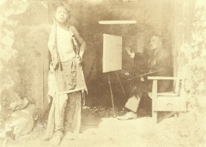 E.I. Couse with Native Model, Taos New Mexico