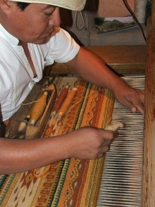 A Taste of Oaxaca in Taos, New Mexico: Master Zapotec Weaver, Florentino Gutierrez, Gives Weaving Demonstration with his cousin Hugo