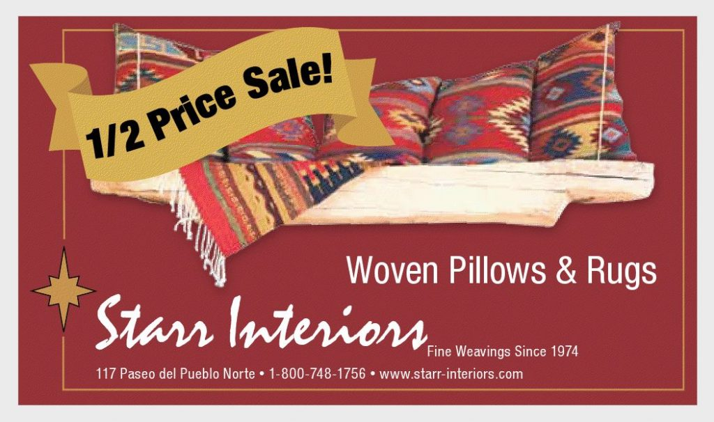 Starr Interiors' Annual half-price sale