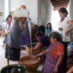 Women preparing Tejate