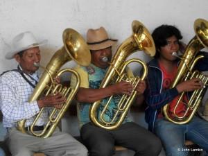 Zapotec Musicians at Ceremony  © John Lamkin