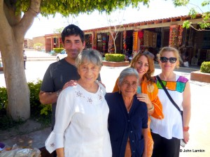 Our family with wife of recently deceased weaver Felipe Lazaro
