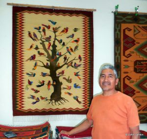 "Armando in front of special ""Tree of Life"" which we purchased"